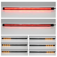 12 31CM Flexible 36 LED Motorcycle Light Strip Tail Brake Stop Light SMD 3528 With Flowing