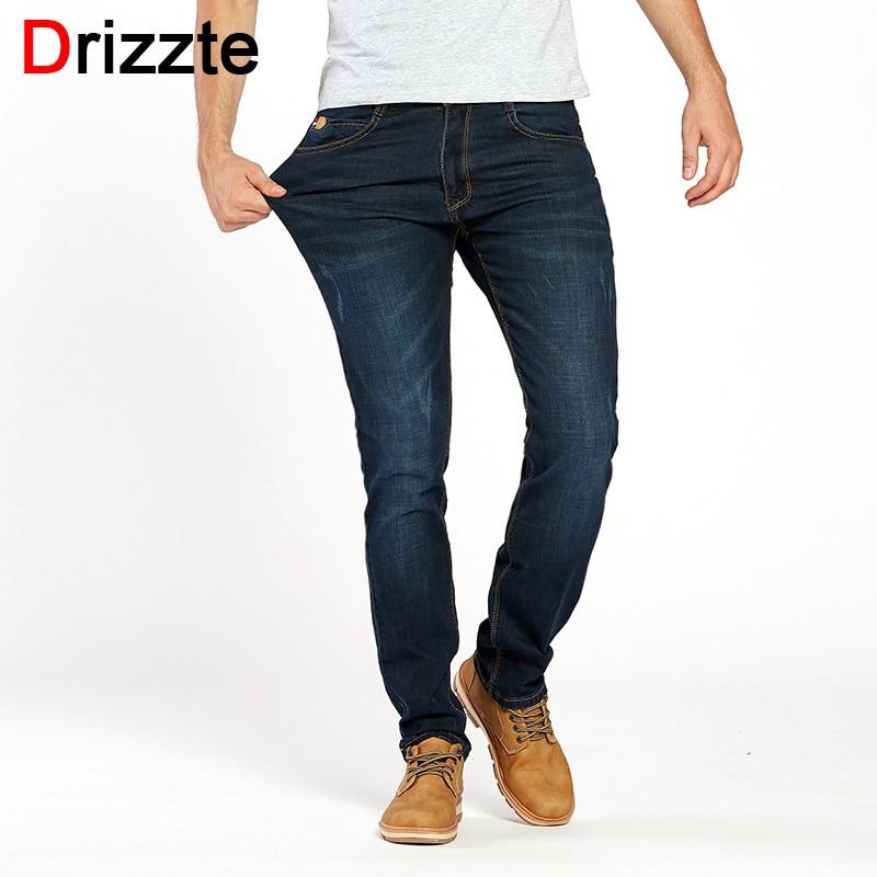 drizzte brand men stretch stretch denim slim jeans