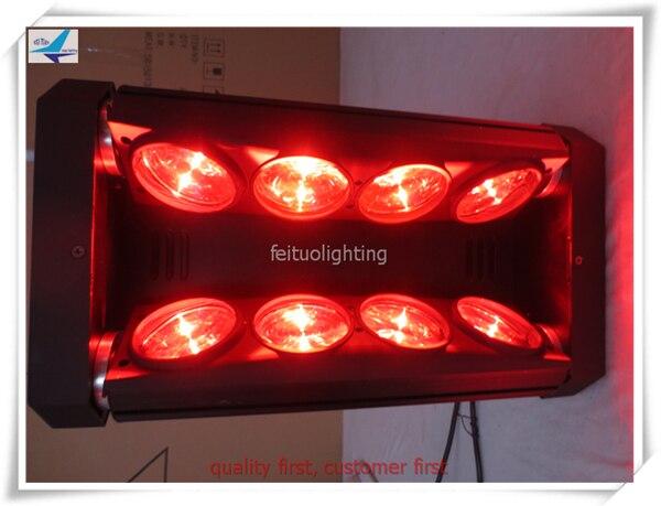 (4lot/CASE)Wedding stage decoration 8x10w white led moving head spider light stage light flight case