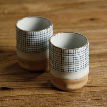Creative ceramic teacup Japanese cups milk cup retro coarse pottery Coffee cup