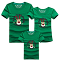 Summer Family Matching Clothes Christmas Family Look Christmas Deer T Shirts Mom & Dad & Son Daughter Cartoon Outfits More Color