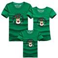 Verano de la Familia Ropa A Juego Familia Mirada de Navidad Ciervos Navidad T camisas de Padre y Madre y Hijo Hija Trajes de Dibujos Animados Más Color