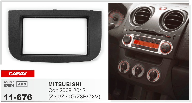 Quadro mais estéreo android 6.0 multimedia dvd player do carro para Mitsubishi Colt 2008-2012 Z30G Z3B autoradio gravador unidade central