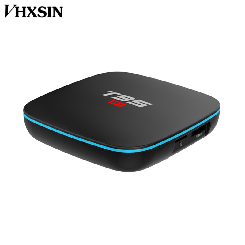 VHXSIN 50 PCS/LOT  T95 R1 Smart TV Box Android 7.1 S905W Quad-core 2.4GHz WiFi 2G RAM 16GB ROM KD