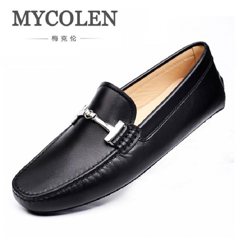 MYCOLEN Brand New Men Business Casual Shoes Slip On Flat Shoes Men Casual Shoes Comfortable Men Loafers Zapatos De Los Hombres cbjsho brand men shoes 2017 new genuine leather moccasins comfortable men loafers luxury men s flats men casual shoes
