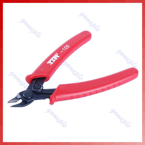 Mini 5-inch Electrical Crimping Plier Snip Cutter Hand Tool Red