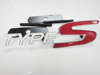 2015 Hot Auto 3D Metal Chrome Red TYPES Front Grille Grill Badge Emblem Fit For Honda