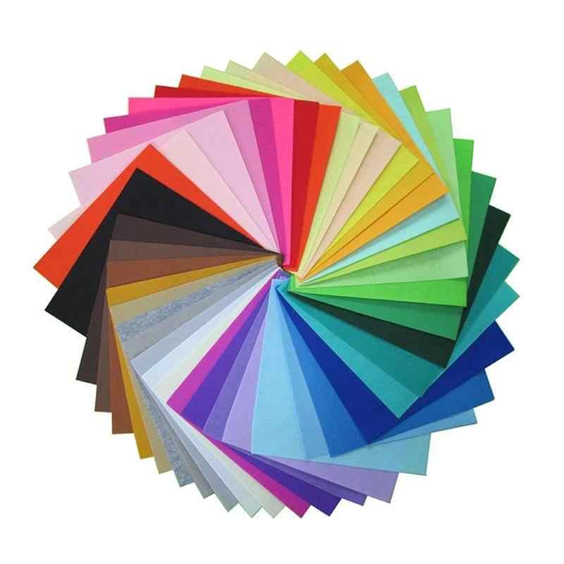 40 pçs/lote Colorido Não Tecido Pano de Feltros de Feltro Tecido de Poliéster DIY Pacote Para Bonecas De Costura Artesanal Artesanato Tecido Ferramentas De Costura