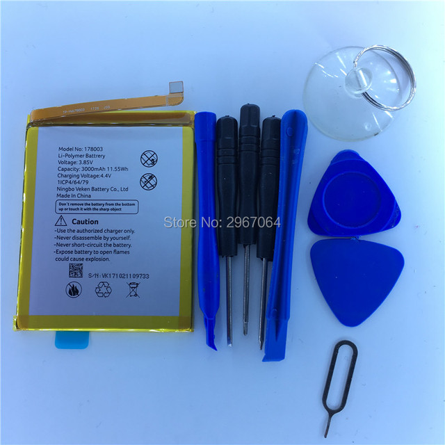 Mobile phone battery vernee M5 battery 3050mAh  5.2inch MTK6750 Long standby time Original battery +Disassemble tool