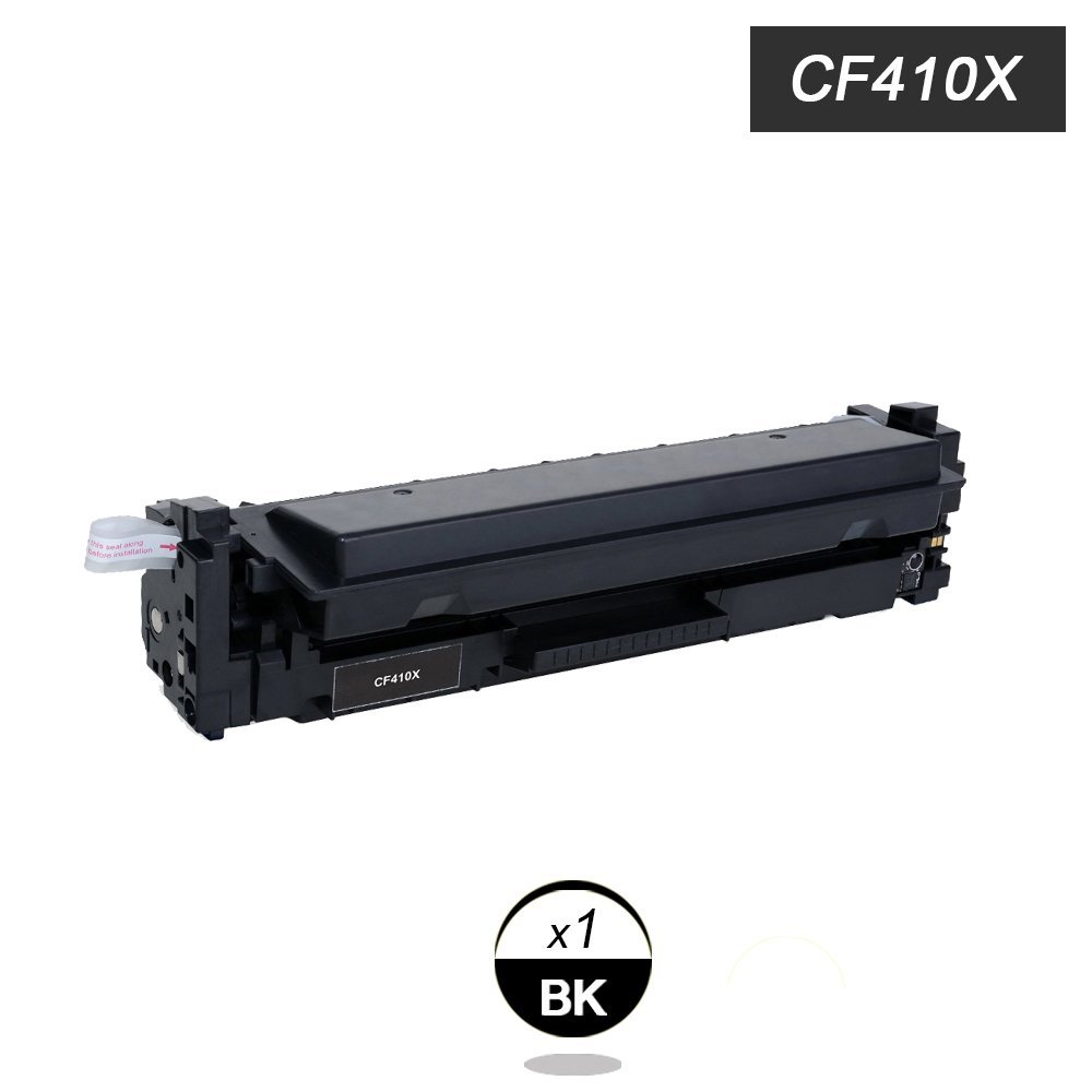 Black Toner Compatible for HP Laserjet Pro CF410X  M452 dn / dw / nw M470 Black 6,500 pages Free shipping Hot Sale 2x non oem toner cartridges compatible for oki b401 b401dn mb441 mb451 44992402 44992401 2500pages free shipping