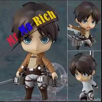 Anime Attack On Titan Figure Nendoroid Cute Eren Jaeger Ackerman Pvc Action Figure Collection Model Toy Brinquedos Free Shipping