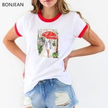 Vogue t shirt women Umbrella Girl harajuku tshirt femme summer casual tee female camiseta mujer fashion tumblr tops