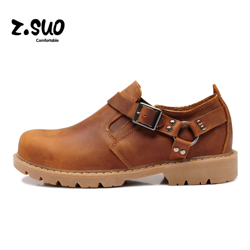 ZSUO 2017 Autumn Genuine Leather Men Shoes Fashion Casual Shoes For Men Spring Tide Lace-up Shoes Men Tie British Male ZS337Y men suede genuine leather boots men vintage ankle boot shoes lace up casual spring autumn mens shoes 2017 new fashion