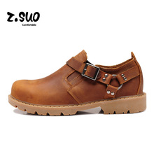 ZSUO 2017 Autumn Genuine Leather Men Shoes Fashion Casual Shoes For Men Spring Tide Lace-up Shoes Men Tie British Male ZS337Y