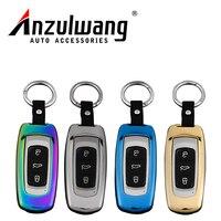 ANZULWANG Car Key Pokrywy Skrzynka Smart Start Stop Cynku Klamry Przypadku dla Geely Emgrand GL GS B-ray Vision Car Key Skrzynki Pokrywa
