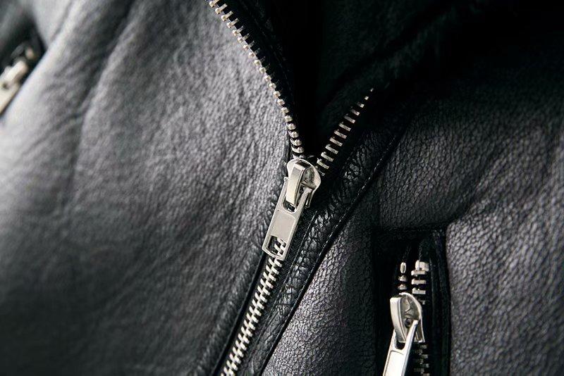 Warm women's winter motorcycle velvet jacket female short 16