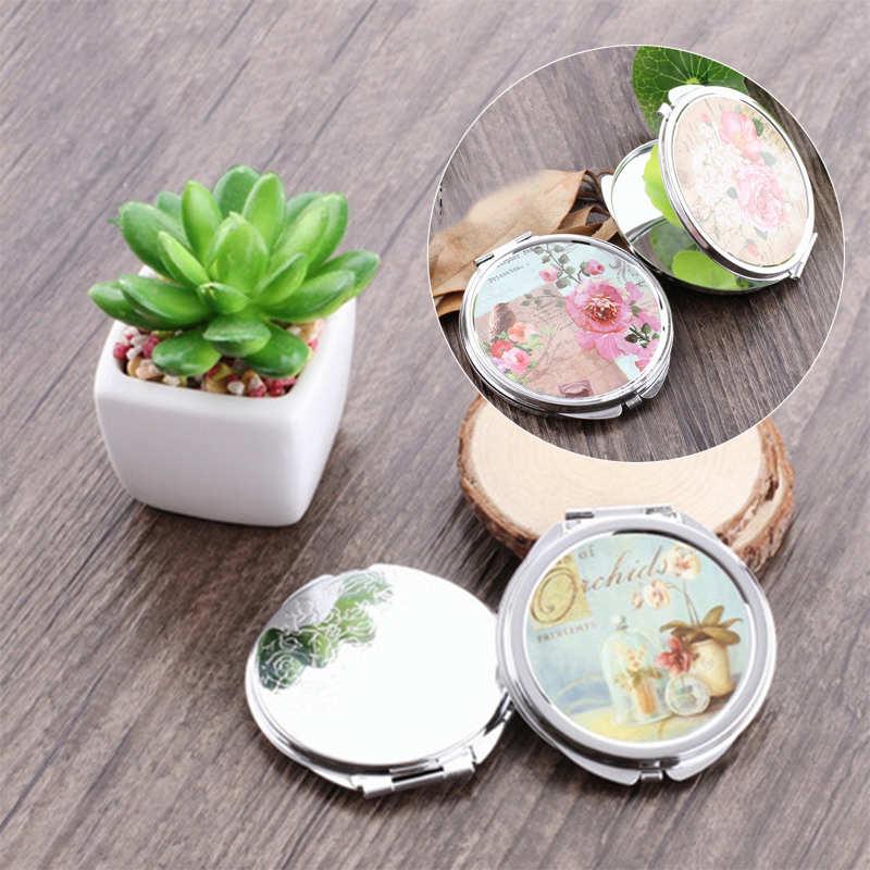1 Pc Tragbare Falten Nette Spiegel 60mm Kompakte Mini Make-up Kosmetik Tasche Spiegel Gelegentliche Muster Für Kosmetische Werkzeug Zufällige Muster Diversifiziert In Der Verpackung Haut Pflege Werkzeuge Spiegel