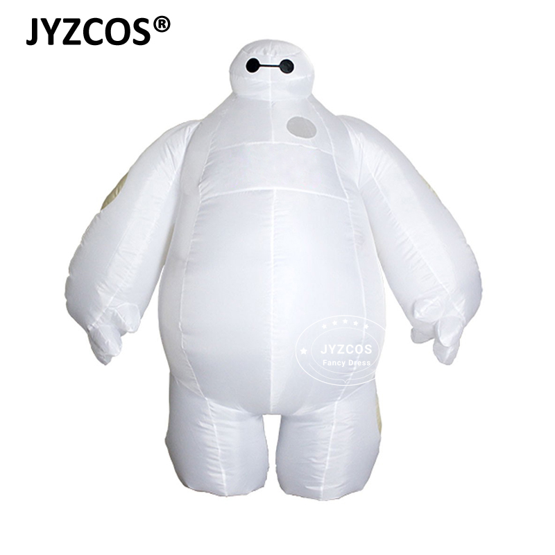JYZCOS Adult Inflatable Baymax Costume Halloween Cosplay Costume New Big Hero 6 Mascot Costume Party Fancy Dress for Men Women