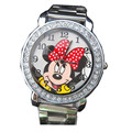 Children Cartoon Watch Women Dress Watches Men Mickey Minnie Cute Stainless Steel Clock lovely Relogio Kids Watches Reloj Mujer