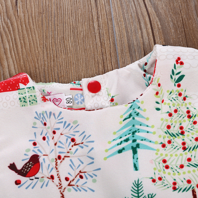 2-6 Years Xmas Toddler Kid Baby Girl Christmas Cartoon Deer Sleeveless Party Dress 1