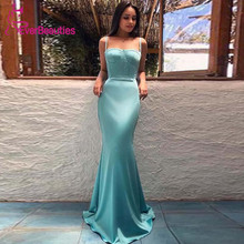 Abendkleider 2019 Mermaid Evening Dress Long Gown  Formal Spaghetti Straps Robe De Soiree