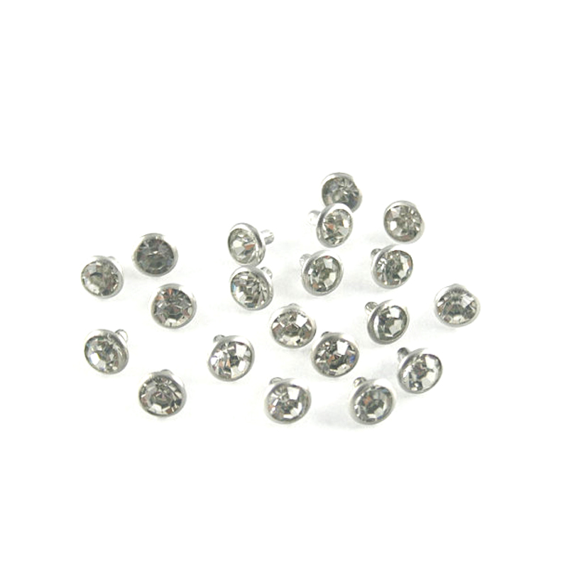 Rivet Décorations 8mm Blanc Strass Verre 1000 Stud Cristal Ensembles Diamant qYSwH8