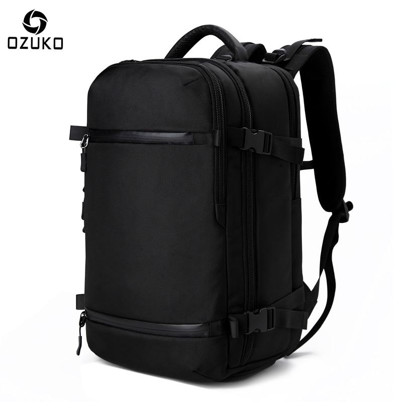 5d1af2e56ca4 2018 New Multi-functional Men s Backpack 17.3Inch Business Laptop Backpacks  Large Capacity Waterproof Travel Backpack School Bag