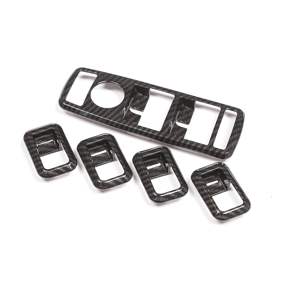 Carbon Fiber Door Handle Window Lift Switch Button Frame Trim For Mercedes benz A/B/C/E/CLA/ML/GL/GLK/GLA Class W204 Accessories