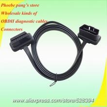 FINETRIP Chất Lượng Cao Flat 16Pin 1 M Cable Mở Rộng OBD 2 OBDII obd2 16 pin Nam Để Nữ Elbow Nối elm327