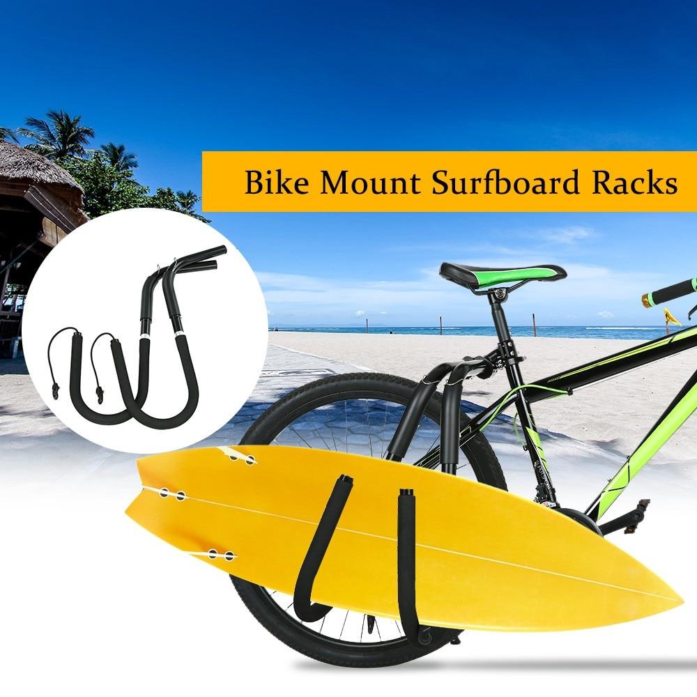 Support de vélo planche de surf Wakeboard supports de vélo monter sur les poteaux de selle vélo support de surf convient aux planches de surf