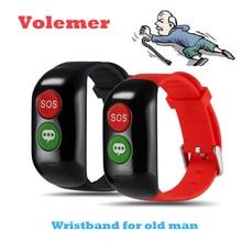 Volemer GPS смарт-браслет Wi-Fi фунтов SOS вызова расположение устройства трекер для Gente мэр безопасный анти-потерянный кровью сердце ритма браслет