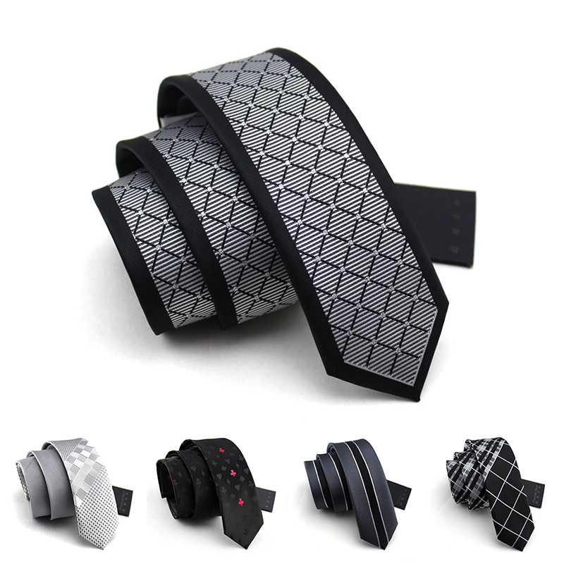 Men Ties Designers Fashion 5.5CM Slim Neckties Mens Silk Tie Male Leisure Narrow Tie Top Quality gravata with Luxury Gift Box
