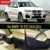 Car Pads Front Rear Door Seat Anti Kick Mat Car Styling Accessories For BMW X3 F25