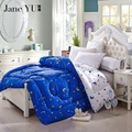 JaneYU Winter comforter Microfiber Quilted thicken bedding comforter AB fashion printed keep warm winter quilts king size duvet