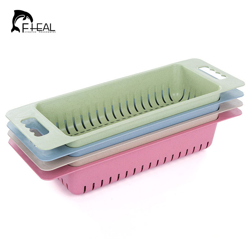FHEAL Multifunction Kitchen Sink Drain Rack Plastic Dish Cutlery Drainer  Drying Holder Fruits Cup Dish Sink Rack Drying Tool In Storage Holders U0026  Racks From ...