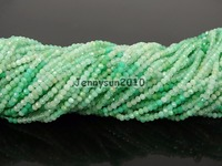 Grade AAA Brilliant Cut Shining Natural Chrysoprase Gems Stones 2mm Faceted Round Beads 15 Jewelry Making 2 Strands/Pack