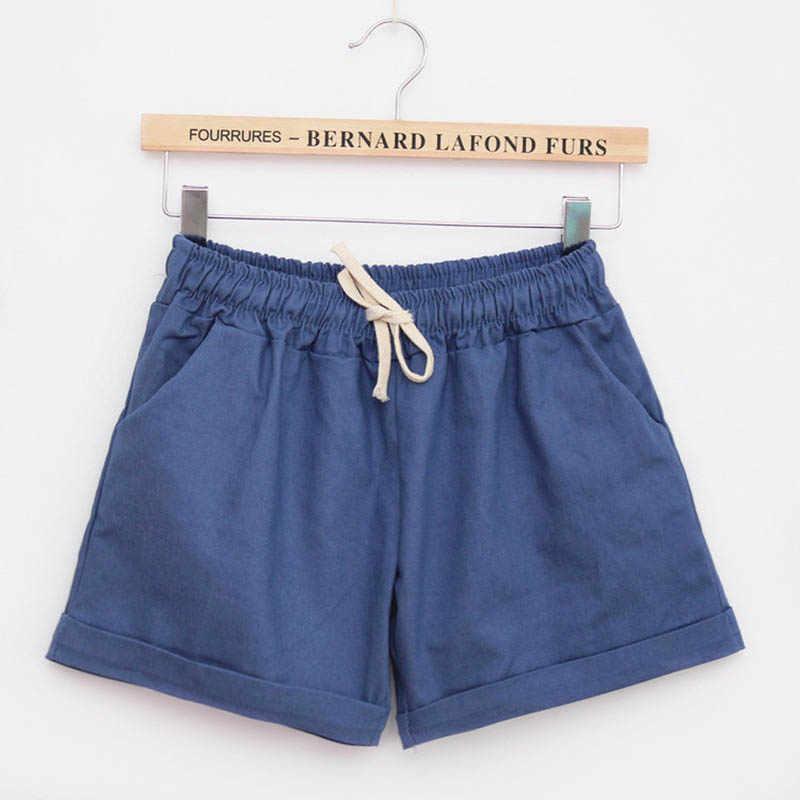 Damskie spodenki bawełniane 2017 moda lato cukierki kolor elastyczny sznurek do ściągania talii krótkie spodnie kobieta na co dzień szorty w dużych rozmiarach