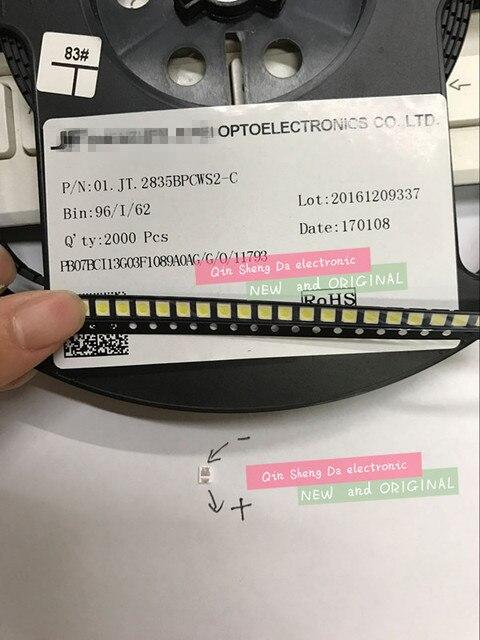 2000 יח\חבילה 3528 SMD LED 2835 6V מגניב לבן 96LM עבור LCD תאורה אחורית LED חרוזים
