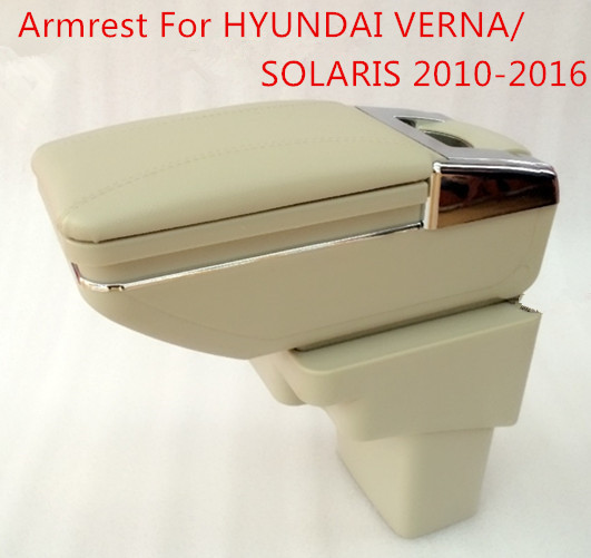 FREE SHIPPING Car Armrest FOR HYUNDAI VERNA SOLARIS 2010-2016,Car Console Box Center Arm Rest With Cup Holder,Car Accessories. universal leather car armrest central store content storage box with cup holder center console armrests free shipping