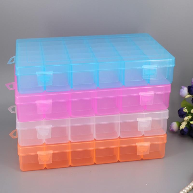 Hoomall 36 Grid Detachable Gear Storage Box Electronic Auto Parts Box Transparent Plastic Jewelry Box Tool Parts Storage Box