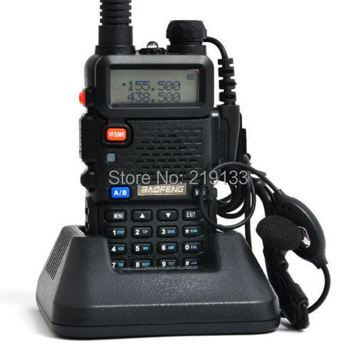 radiosender UV-5R, 136-174MHz og 400-520MHz dual band FM-radio, gratis øretelefon 2014 baofeng ny