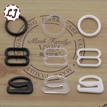 30 шт./лот 8 мм белый черный Тип 0 8 9 нейлон бар пряжки-зажимы кнопка для регулировки нижнего белья аксессуары DIY