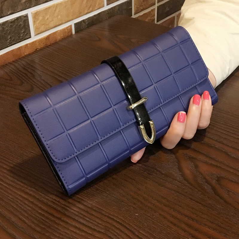 2019 new ladies long wallet female cowhide Korean fashion personality Joker large capacity women's leather wallet