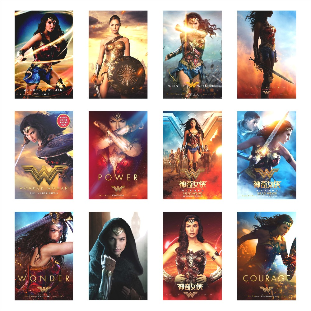 Free delivery Wonder Woman Movie poster fabric silk poster print Home Decoration (80x120 cm/32x48 Inch)