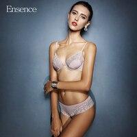 Ensence Women Super Thin Lace Sexy Beauty Bra Sets Girls Deep V Push Up Underwear Lingerie