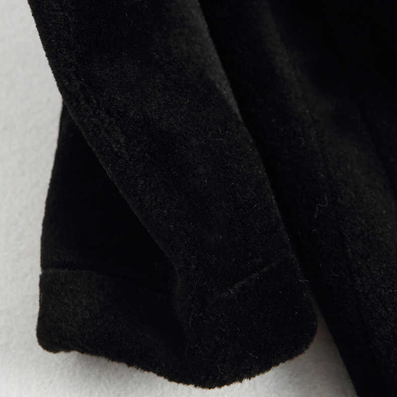 Musim Gugur Musim Dingin Mantel Pakaian Wanita 2018 Mink Nyata Bulu Mantel 100% Wol Jaket Korea Vintage Domba Bulu Domba Bulu Suede Linling 68281