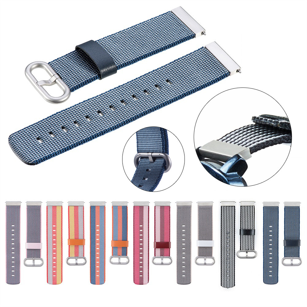Nylon weave Band Wrist Strap 22mm For Asus Vivowatch / ZENWATCH/ ZENWATCH 2 watchbands genuine leather nato strap gear s3 classi