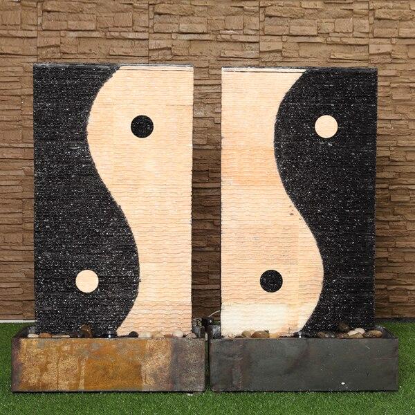 vivir a lo grande fuente de agua baja de taiji chino cultura zen artesana de piedra decoracin feng shui