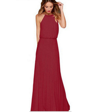 ab66ddc898 Buenos Ninos Apparel Elegant Maxi Dress For Women Wedding Hanging Neck Dress  Summer dress 2017 Sexy