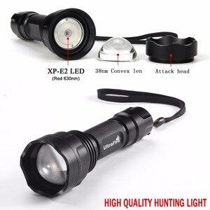 Image 5 - UltraFire LED Taschenlampe XP E2 Rot Taschenlampe Jagd Nacht angeln taktische taschenlampe 630nm Zoom Scheinwerfer LUZ 18650 Taschenlampe
